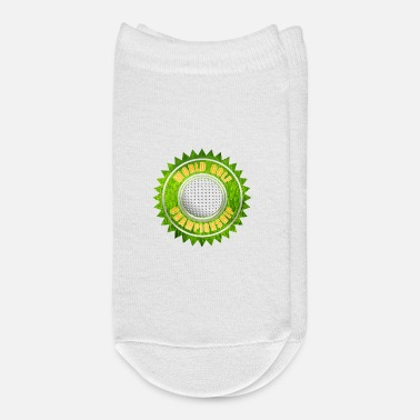 Grass World Golf Championship Ribbon Grass Large Gold Te - Ankle Socks