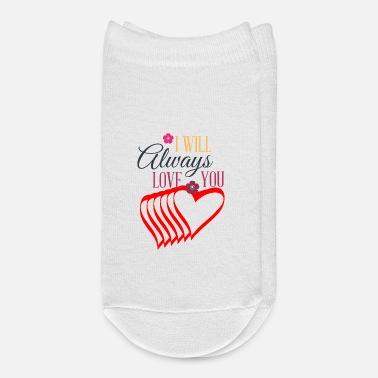First Valentines day tshirt gift for her or him. - Ankle Socks