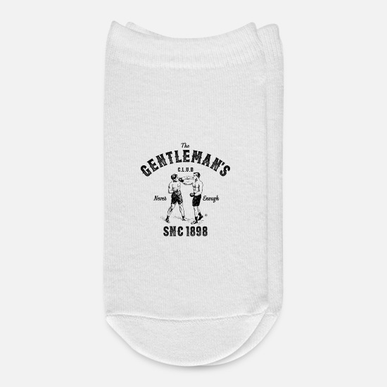 Mma Socks - VINTAGE BOXING, THE GENTLEMANS CLUB STAMPED - Ankle Socks white
