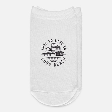 Beachball love to live in long beach - Ankle Socks