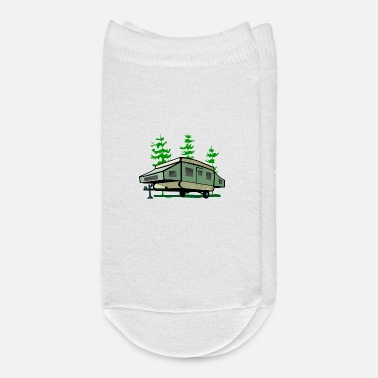 Person Camp Popup Trailer Personalize - Ankle Socks