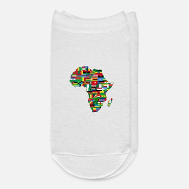Map Africa Map Countries - Ankle Socks