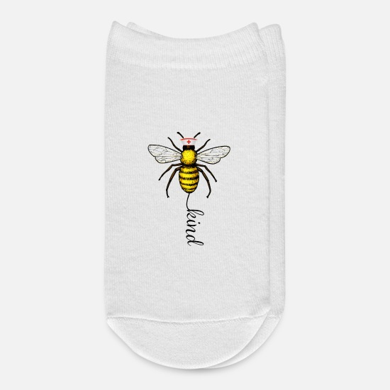 Kindergarten Socks - Bee Kind Nurse - Ankle Socks white