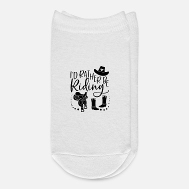 Stall I'd rather be riding horse girl quote - Ankle Socks