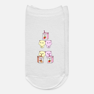 Flavor Funny kittens drinking flavored chocolate milk - Ankle Socks