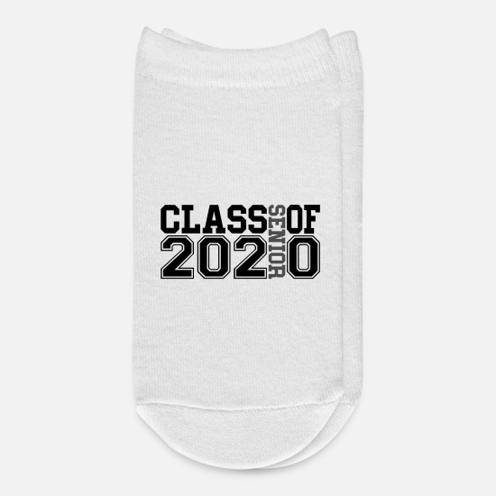 High School Graduate Socks - Senior Class Of 2020 - Ankle Socks white