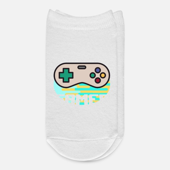 Player Socks - Gamer gamers pro player console computer - Ankle Socks white