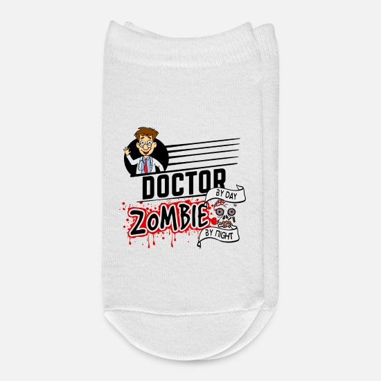 Horror Socks - Proud Doctor Arzt Mediziner - Zombie by night - Ankle Socks white