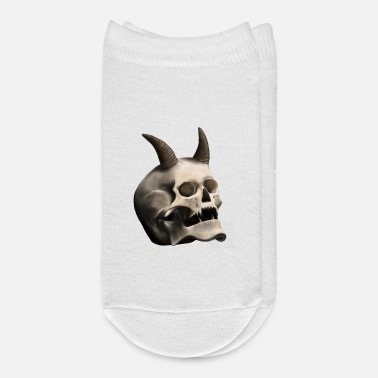 Horns Skull with Devil Horns - Ankle Socks