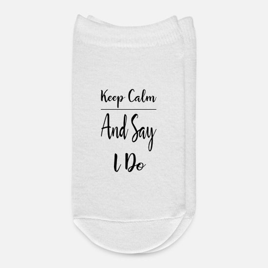 Cool Socks - keep calm and say i do - Ankle Socks white