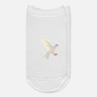Wedding Day White dove, wedding, gift valentines day - Ankle Socks