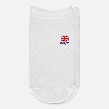 Uk LONDON text UK Flag - Ankle Socks