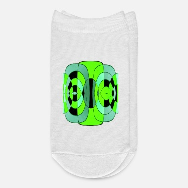 Form Abstract green diamond and oval - Ankle Socks