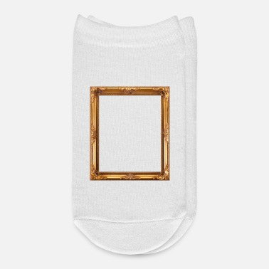 Rectangle Golden Picture Frame - Ankle Socks
