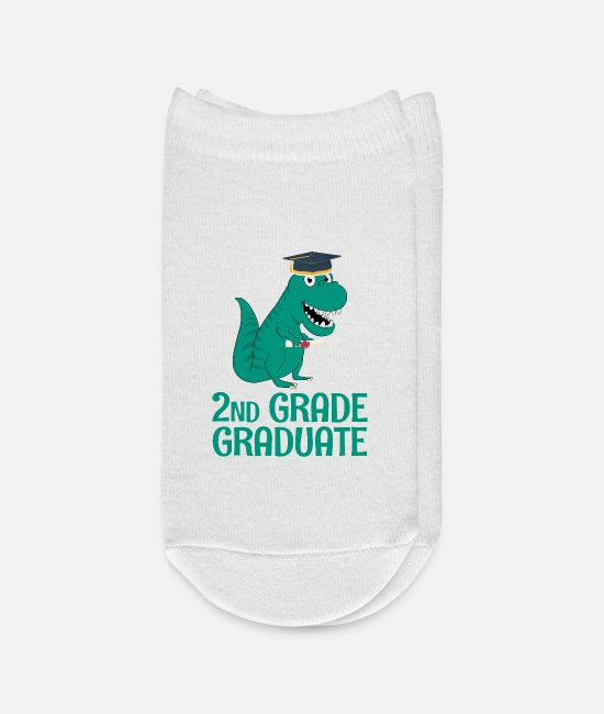 Graduation Socks - Graduate 2nd Grade - Ankle Socks white