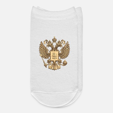 Coat Of Arms russia coat of arms gold russland flag soccer - Ankle Socks