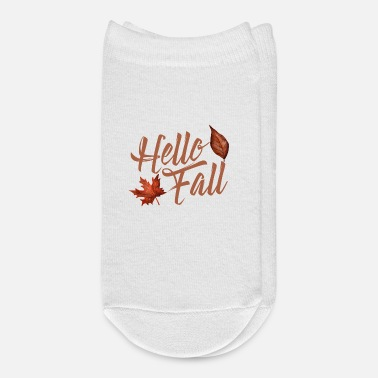 End Of Summer Autum Hello Fall Leaves Are Falling September - Ankle Socks