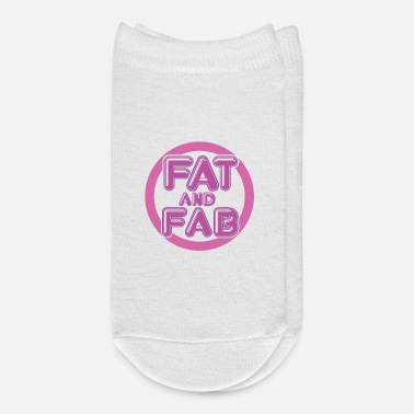 Large Fat And Fab Large Curvy Women Body Positive - Ankle Socks