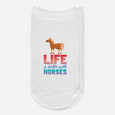 Foal Life Is Better With Horses Go For A Ride Day - Ankle Socks