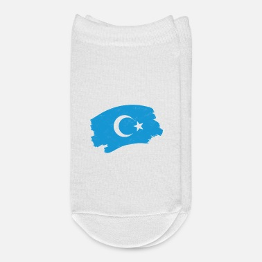Half Moon Uighur flag white half moon blue background uighur - Ankle Socks