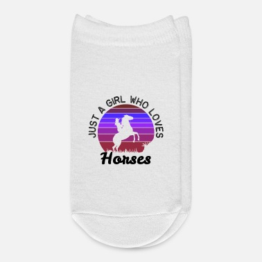 Saddle Just A Girl Who Loves Horses - Ankle Socks