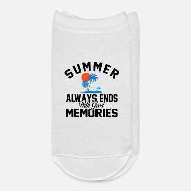 End Of Summer Summer Always Ends With Good Memories bw - Ankle Socks