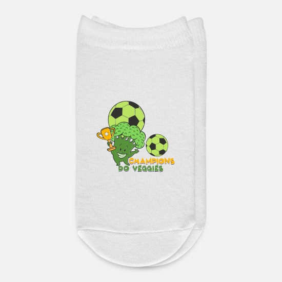 Birthday Socks - Plant Vegan Broccoli Sport Soccer I Gift Idea - Ankle Socks white