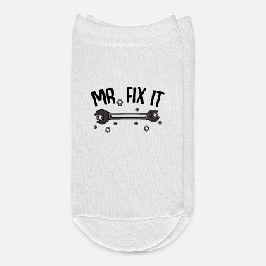 Diy Mr. Fix It lettering tool do-it-yourselfers gift - Ankle Socks
