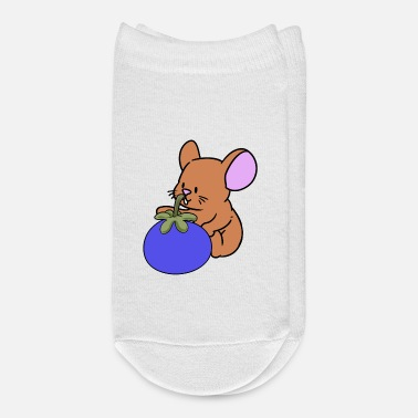 Hungry Vegan Mouse Pets Fantasy Fruit Hungry Kids - Ankle Socks