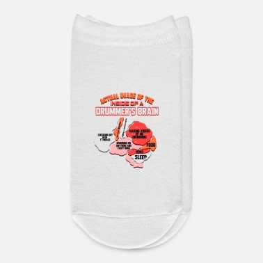 Drummer Brain Funny Drums Quote Girlfriend Gift - Ankle Socks