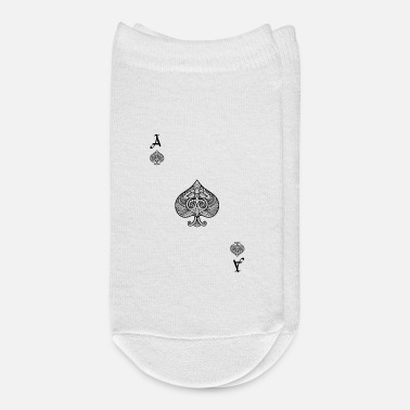 Cards Card Game Costume Playing Card Ace Of Spades - Ankle Socks
