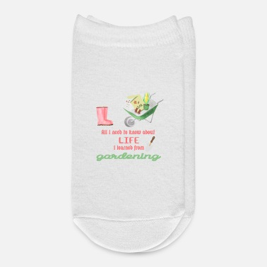 Garden Gardening quote shirts for gardeners - Ankle Socks