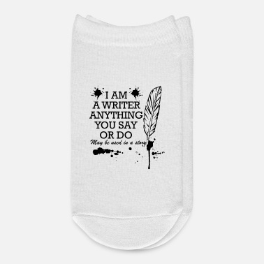 Literature writer saying funny pen gift - Ankle Socks