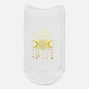 Ornament flower of life shaman geometry symbol gold - Ankle Socks