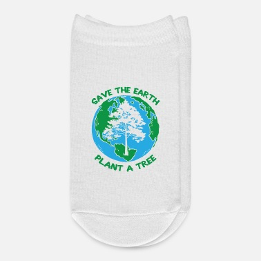 Global Save The Earth Awareness Plant A Tree Environment - Ankle Socks