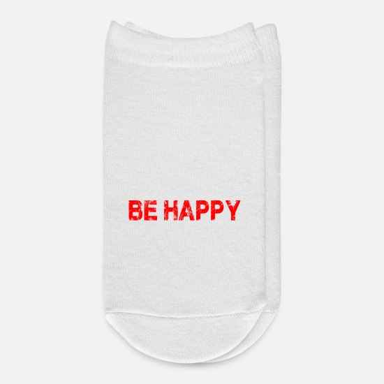 Serenity Socks - EAT SLEEP BE HAPPY REPEAT!! - Ankle Socks white