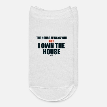 Cards Poker home win funny saying - Ankle Socks