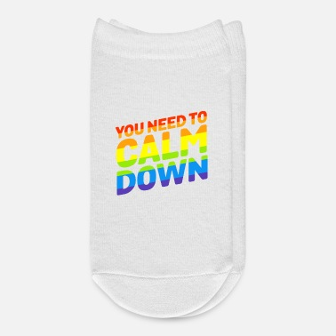 Gay Pride Gay Pride Rainbow Equality You Need To Calm Down - Ankle Socks