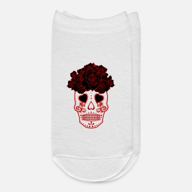 Dia De Los Muertos Halloween Mexican Skull Red Day Of The Dead - Ankle Socks