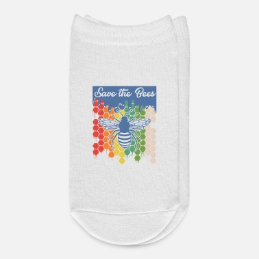 Bee Save The Bees Honey Bee Colorful Beehive Beekeeper - Ankle Socks