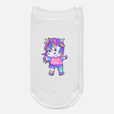 Usa Unicorn Love USA Horse Unicorn Animal - Ankle Socks