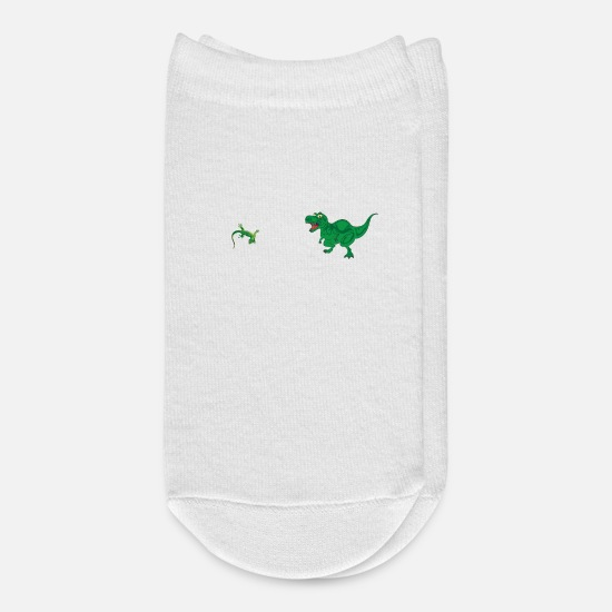 Dinosaur Socks - You Aunt, My Aunt Lizard Dinosaur Comparison Cool - Ankle Socks white