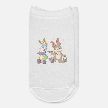 Candy Easter Bunny Rabbits Painting Eggs Happy Egg Hunt - Ankle Socks