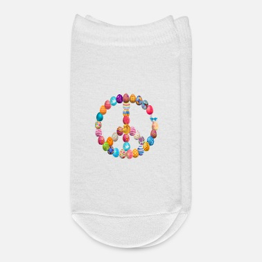 Anti Easter Egg Hunt Peace Sign Happy Easter Eggs - Ankle Socks