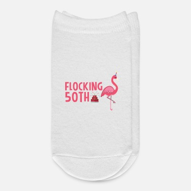 Funny 50th Birthday Flamingo 50th Birthday It's My Flocking Birthday - Ankle Socks