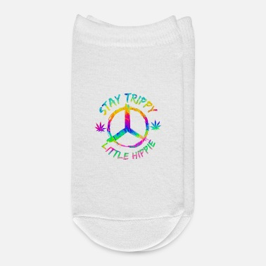 Cannabis Stay Trippy Little Hippie Marijuana Drug Trip - Ankle Socks