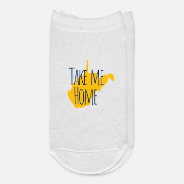 Home Is West Virginia Take Me Home West Virginia State Map Shirts Gifts - Ankle Socks