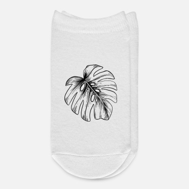 Botanical Monstera leaf, botanical shirt for plant lover - Ankle Socks