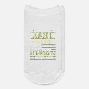 Proud Army Mom I Raised My Heroes Camouflage Graph - Ankle Socks