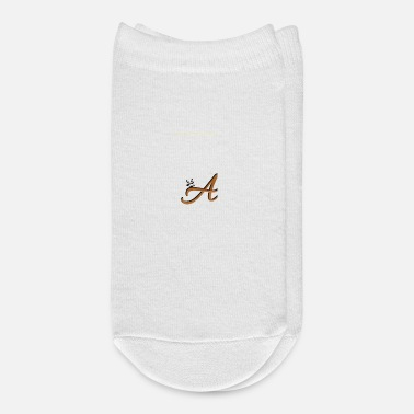 Surname Initial letter featuring an adorable panda graphic - Ankle Socks